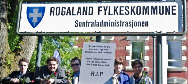 Rogaland FpU: Fylkeskommune, hvil i fred!