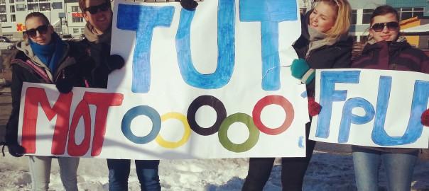 Aksjonerte mot OL